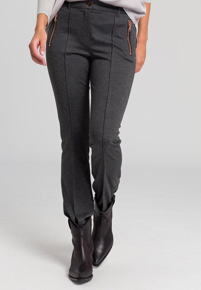 Trousers - grey melange varied