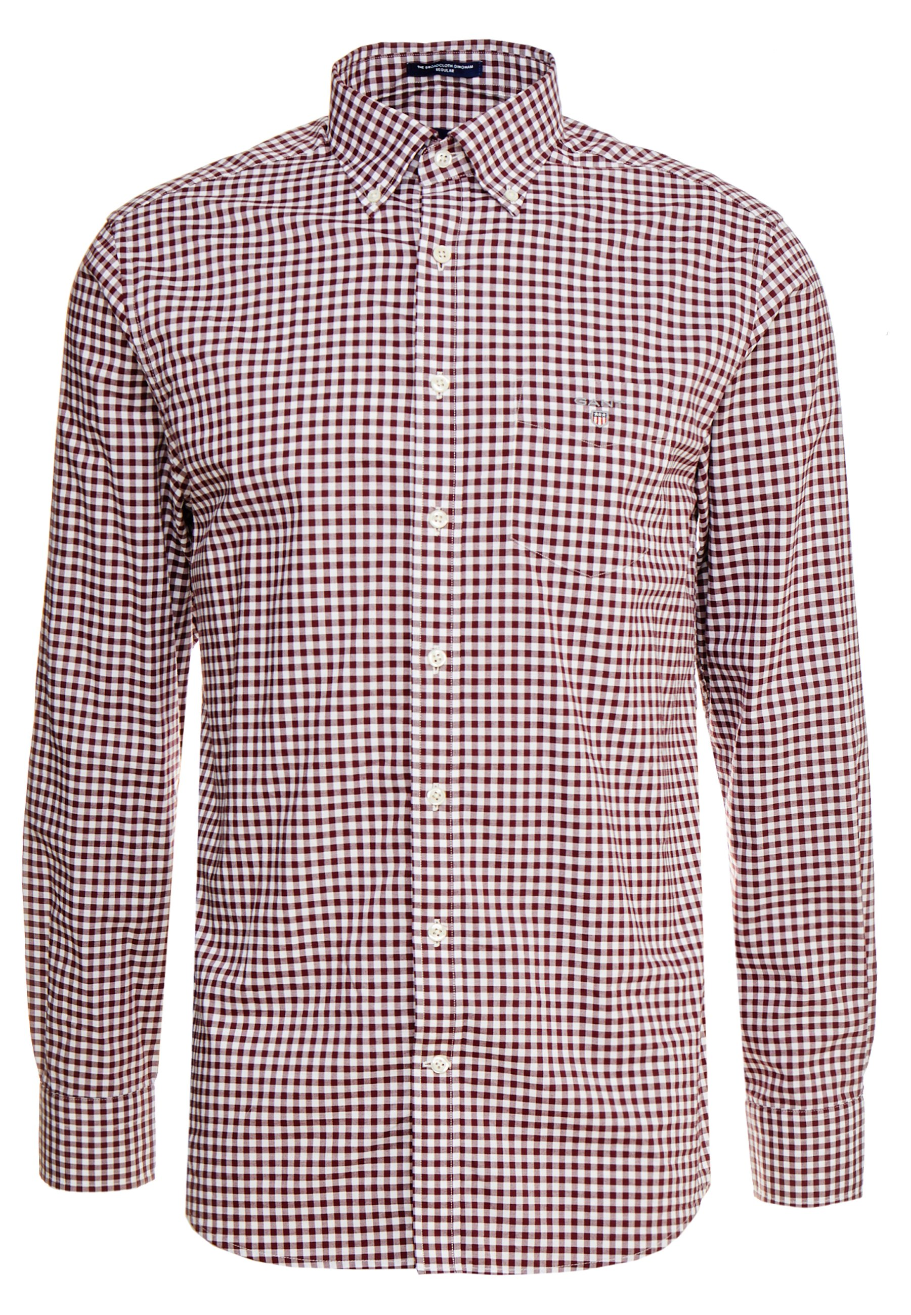 Gant The Broadcloth Gingham - Skjorte Port Red/vinrød