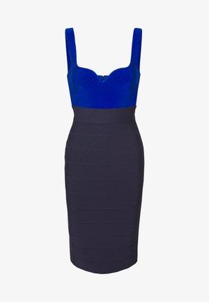 MIDI BANDAGE DRESS - Sukienka etui - blue