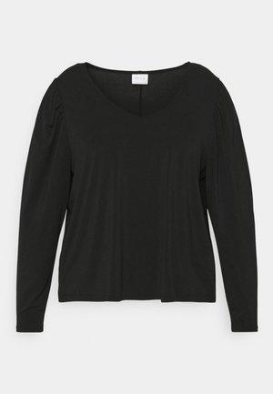 VIEBONI CURVE - Long sleeved top - black