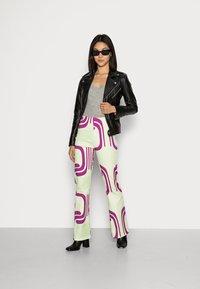HOSBJERG - DITTE PALOMA PANTS - Spodnie materiałowe - royal fade mint - 1