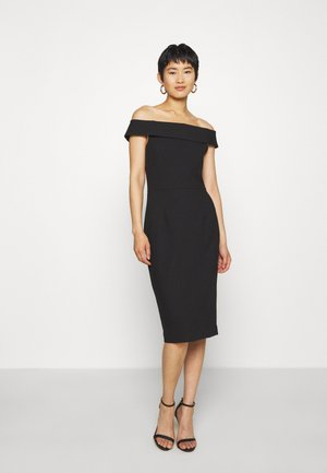 CARMEN DRESS - Sukienka etui - black