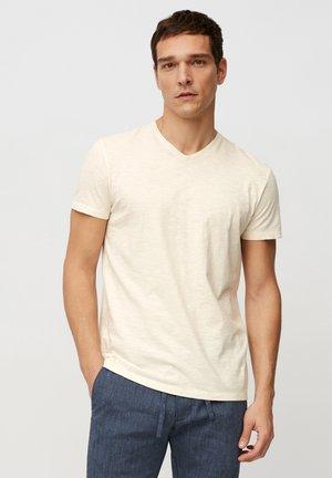 Basic T-shirt - multi/linen white