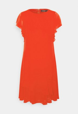 CYRENA CAP SLEEVE DAY DRESS - Day dress - bright hibiscus