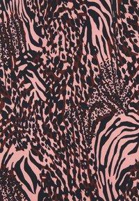 Colourful Rebel - ZEBRA BUTTON DOWN MIDI DRESS  - Day dress - pink - 2