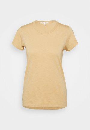 THE SLUB TEE - Jednoduché triko - beige