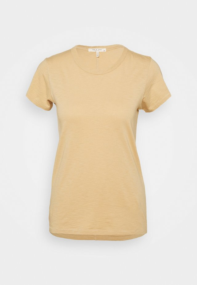 THE SLUB TEE - T-shirt - bas - beige