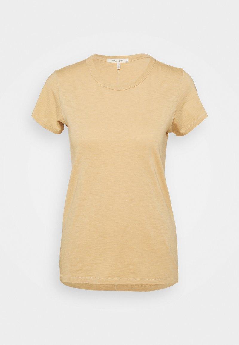 rag & bone - THE SLUB TEE - Jednoduché triko - beige