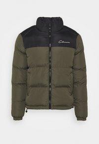 CONTRAST JACKET - Winter jacket - khaki