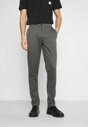 DAVE BARRO - Trousers - medium grey melange