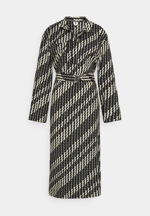 ZIG ZAG DRESS - Maksimekko - brown