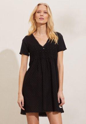 FINEST - Korte jurk - almost black
