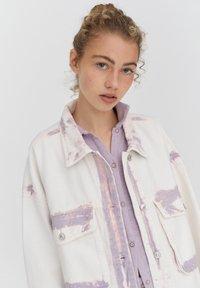 PULL&BEAR - Denim jacket - purple - 4
