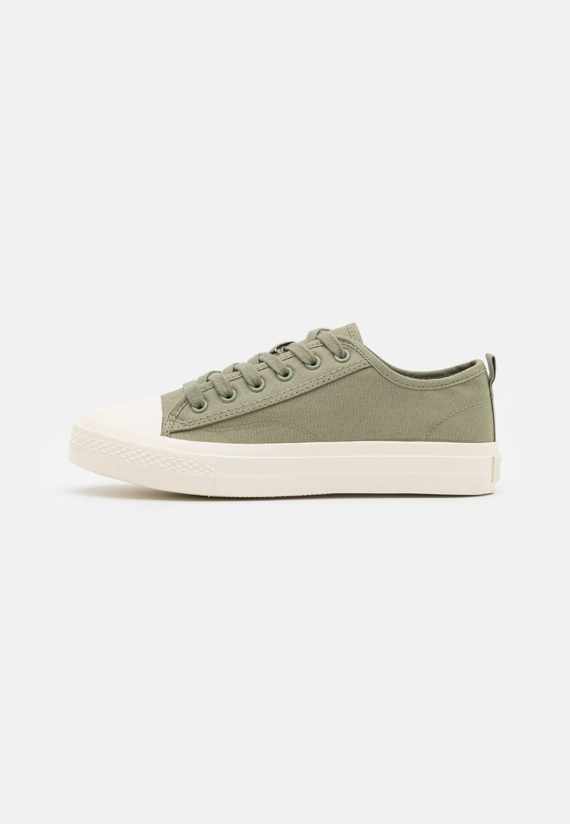 NA-KD - LACE UP TRAINERS - Sneakers laag - light khaki