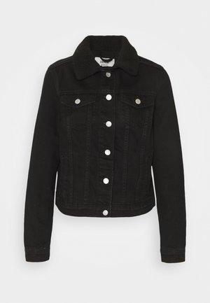 BORG JACKET MELISSA - Denim jacket - black