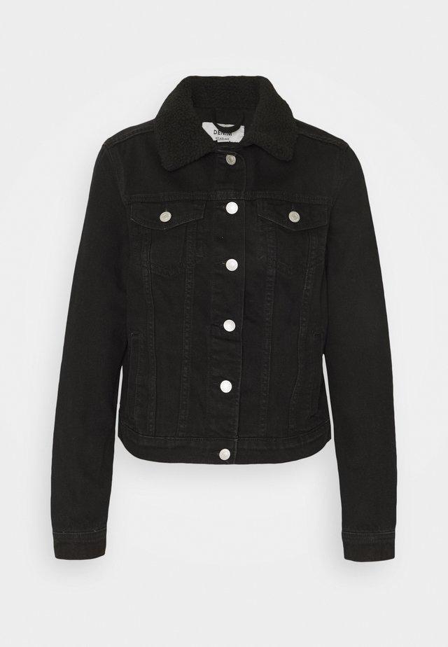 BORG JACKET MELISSA - Džínová bunda - black