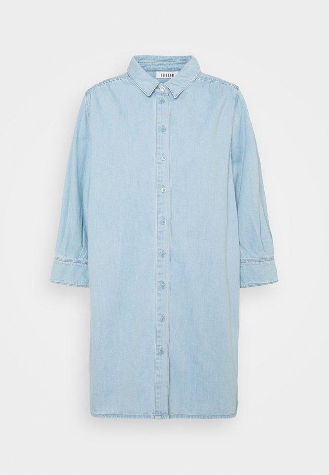 SIENA DRESS - Denim dress - light blue