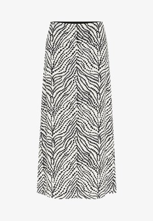 A-line skirt - cream white black