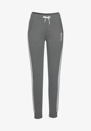 Tracksuit bottoms - stone-weiß