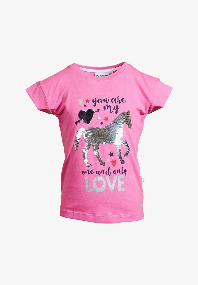 Print T-shirt - bubble gum