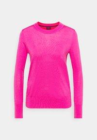 Jersey de punto - bright pink neon