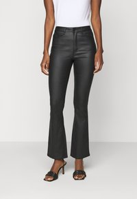 Object Tall - OBJBELLE COATED - Bootcut jeans - black - 3