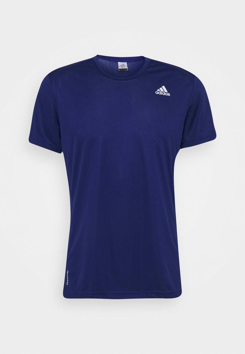 adidas Performance - RESPONSE AEROREADY RUNNING SHORT SLEEVE TEE - T-shirt z nadrukiem - victory blue