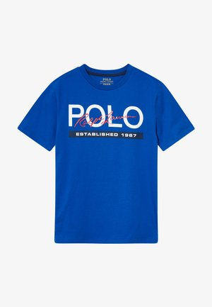 Print T-shirt - pacific royal