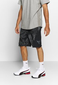 Under Armour - PROJECT ROCK TERRY PRINTED SHORT - Sports shorts - black/pitch gray - 0