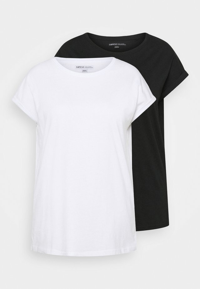 BOYFRIEND 2 PACK - T-paita - black/white