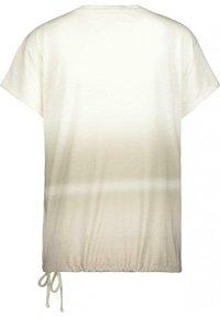 Monari - Print T-shirt - dusty green gemustert - 2