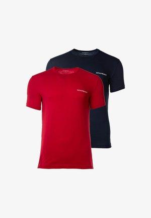 2PACK - Basic T-shirt - marine/rot