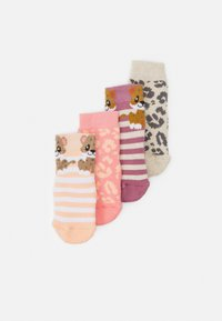Ewers - LEOPARD 4 PACK UNISEX - Socks - pink - 0