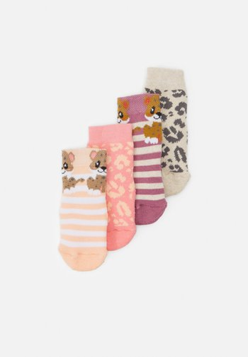 LEOPARD 4 PACK UNISEX - Socks - pink