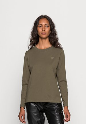 Long sleeved top - dark khaki