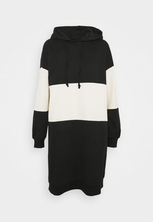 ONLDREAMER COLOR BLOCK HOOD DRESS - Day dress - black/birch