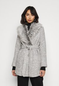New Look Petite - COLLAR COAT - Classic coat - mid grey - 0