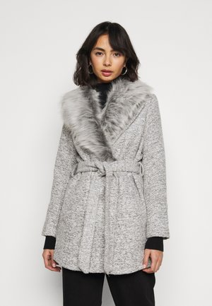 COLLAR COAT - Abrigo - mid grey