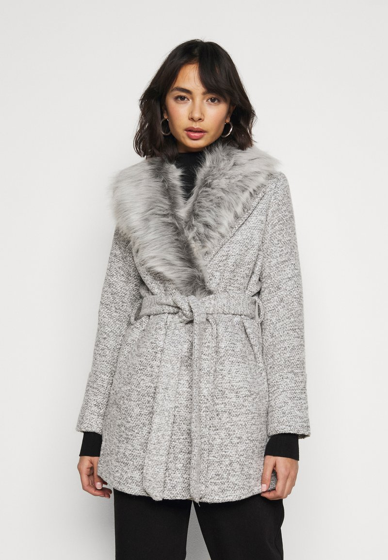 New Look Petite - COLLAR COAT - Classic coat - mid grey