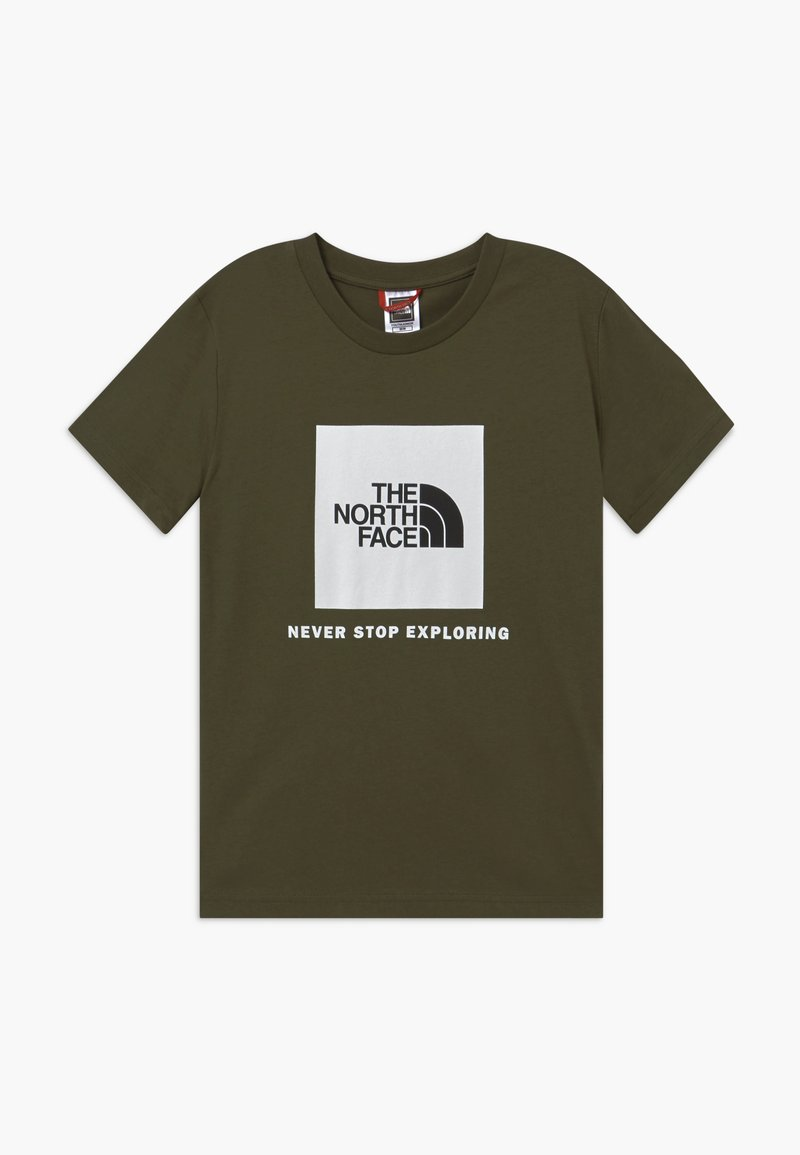 The North Face - BOX TEE UNISEX - Print T-shirt - new taupe green/white