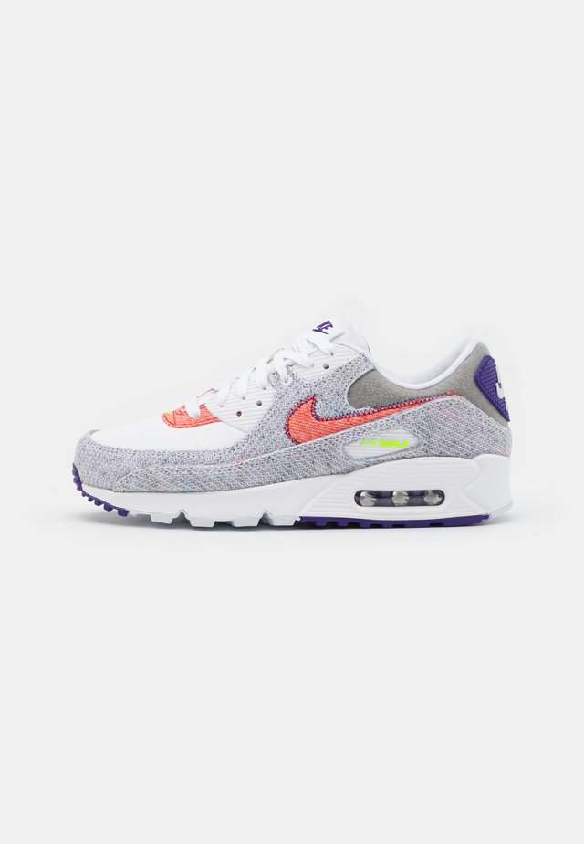 AIR MAX 90 UNISEX - Sneakers laag - white/electric green/court purple