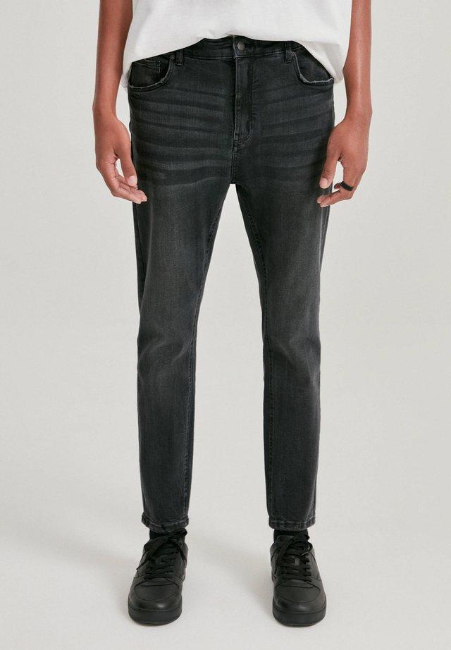 Jeans slim fit - mottled dark grey
