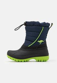 KangaROOS - K-BEN - Winter boots - dark navy/lime - 0