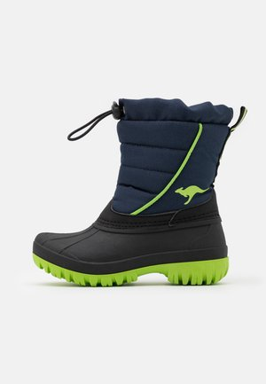 K-BEN - Snowboots  - dark navy/lime