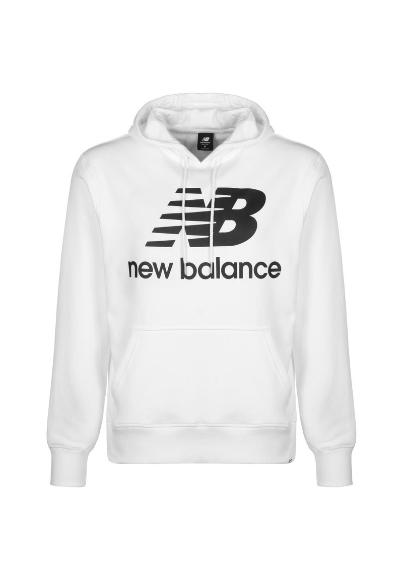 New Balance - ESSENTIALS STACKED LOGO HOODIE - Hoodie - other white