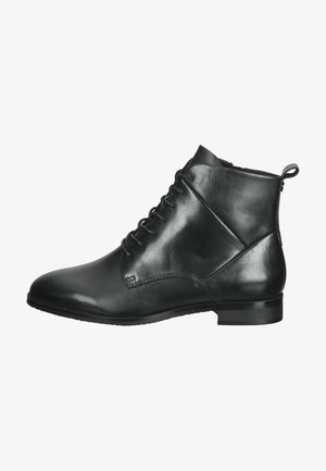 Lace-up ankle boots - black nappa