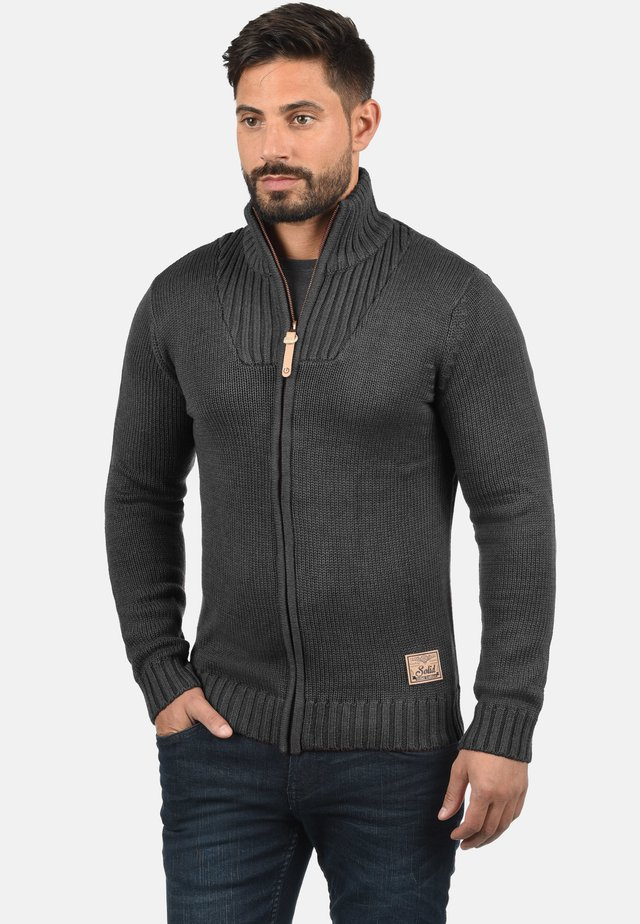 POUL - Strikjakke /Cardigans - dark grey