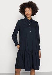 Marc O'Polo - DRESS FLARED STYLE - Shirt dress - night sky - 4