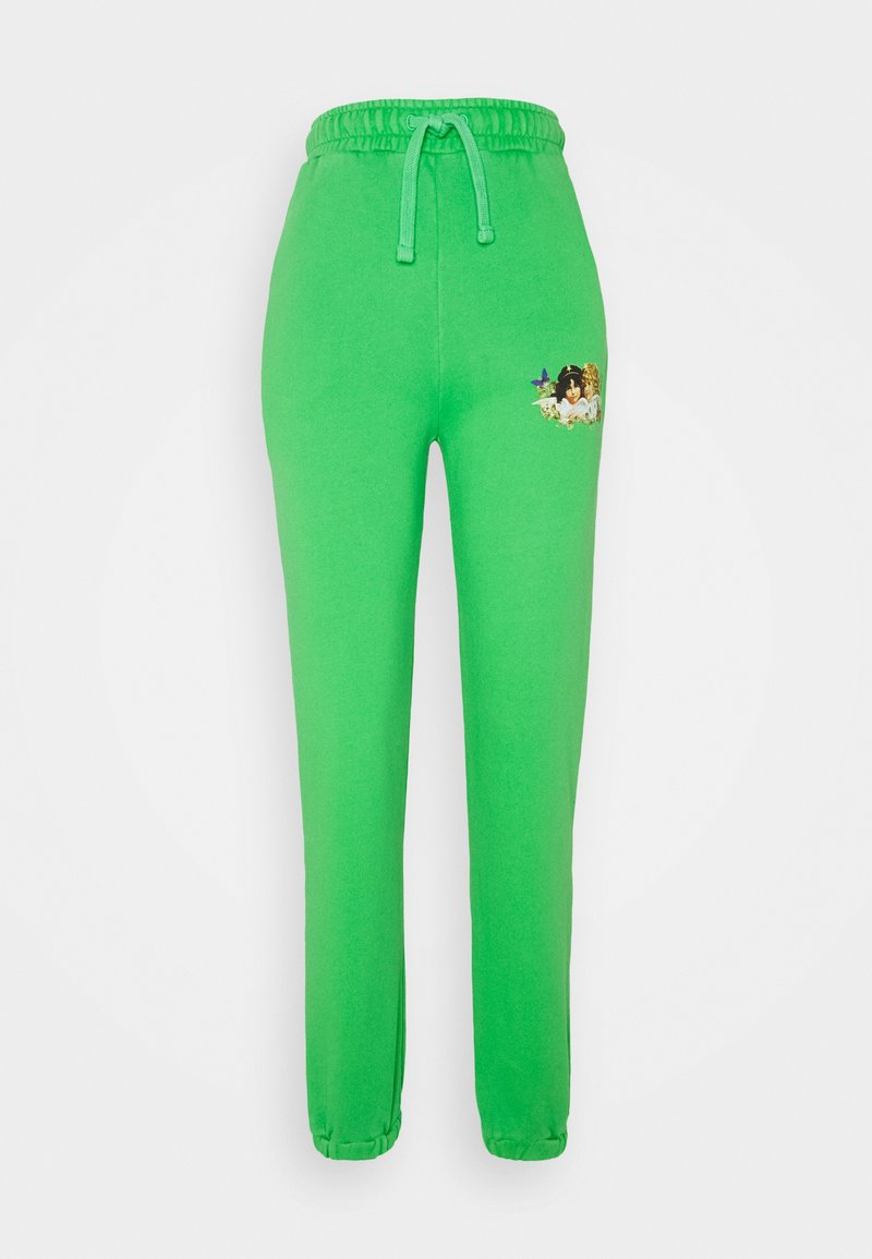 Fiorucci - WOODLAND VINTAGE ANGELS PATCH FOREST - Tracksuit bottoms - green