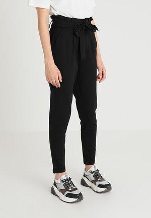 ONLPOPTRASH EASY X PAPERBACK PANT - Pantaloni - black
